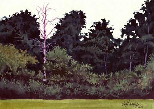 """Backyard Snag"" original fine art by Jeff Atnip"