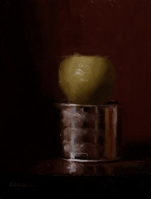 """Apple on Tin"" original fine art by Neil Carroll"