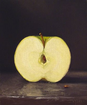 """Apple Half"" original fine art by Abbey Ryan"