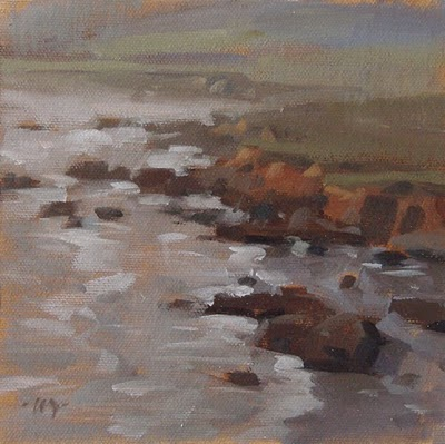 """California Coast"" original fine art by Carol Marine"