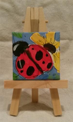 """""""Itty Bitty Ladybug"""" original fine art by Terri Einer"""