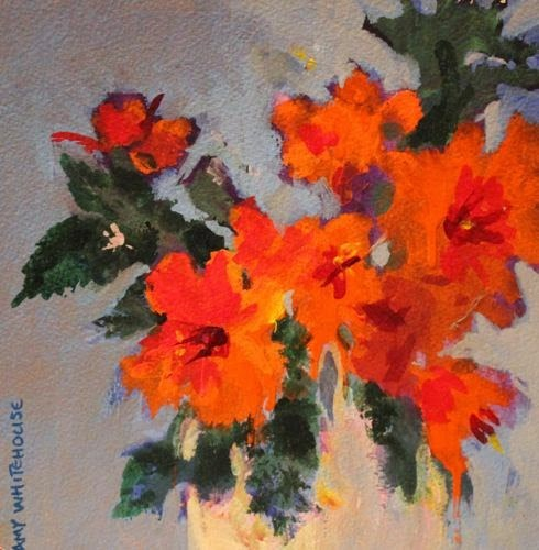 """Mother's Day Bouquet 6, Contemporary Floral Paintings by Arizona Artist Amy Whitehouse"" original fine art by Amy Whitehouse"