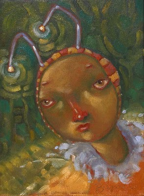 """Firefly"" original fine art by Brenda York"