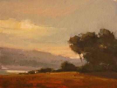 """""""Glorious Morning 3"""" original fine art by Laurel Daniel"""