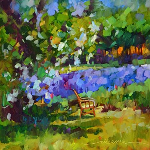 """The Art of Lavender Sitting"" original fine art by Dreama Tolle Perry"
