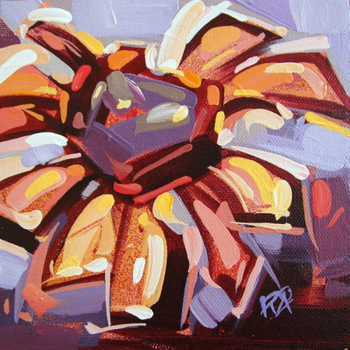 """Flower Abstraction 206"" original fine art by Roger Akesson"