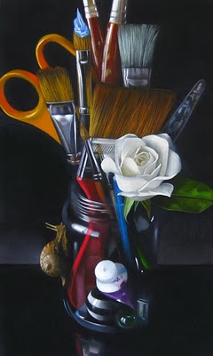 """""Tools Of The Trade"" 6x10"" original fine art by M Collier"