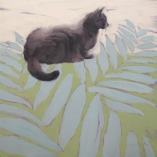 """Ways of Cat 3 painting"" original fine art by Diane Hoeptner"