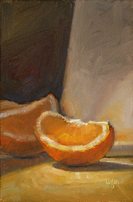 """Orange Slice"" original fine art by Raymond Logan"