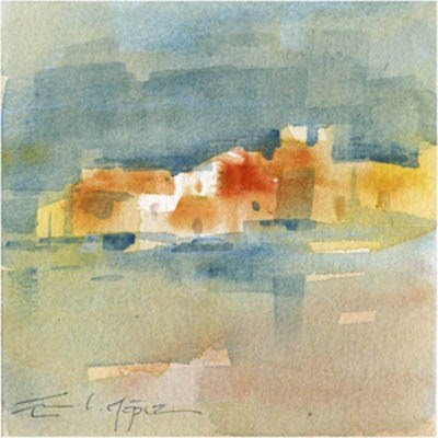 """paisaje 71"" original fine art by Emilio López"