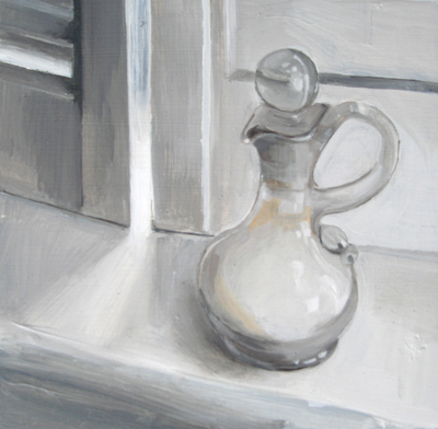 """Miniature Salt Pitcher with Stopper"" original fine art by Michael William"