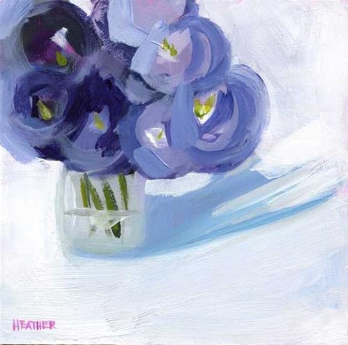 """Purple Posy"" original fine art by Heather Bennett"