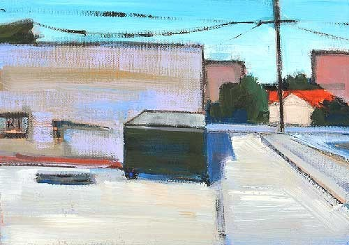 """Dumpster Behind Whole Foods"" original fine art by Kevin Inman"