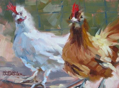 """""""Lucy & Ethel"""" original fine art by Karen Werner"""