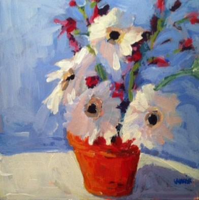 """mini gerbers"" original fine art by Shelley Garries"