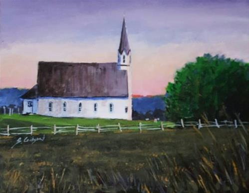 """Sunrise over Ricketts"" original fine art by Steve Gibson"