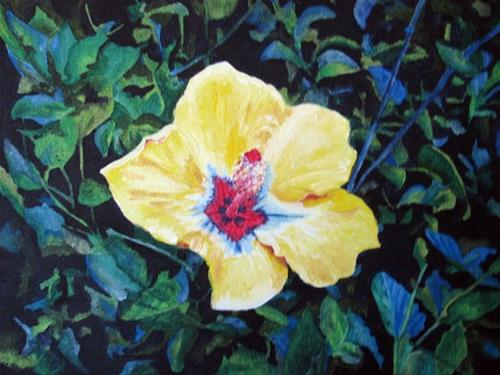 """Hibiscus"" original fine art by Nan Johnson"