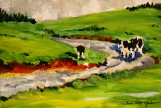 """Till' The Cows Come Home..."" original fine art by JoAnne Perez Robinson"