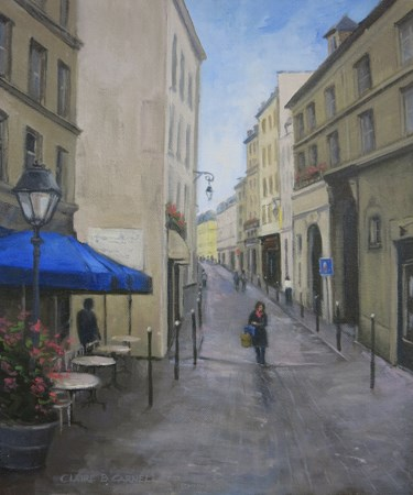 """""""'After the Rain' Il Commencé à Paris Series An Original Oil Painting by Claire Beadon Carnell"""" original fine art by Claire Beadon Carnell"""