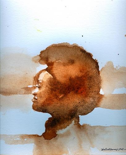 """AFRO 7"" original fine art by Adebanji Alade"