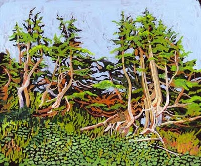 """Sunset on the Ridge"" original fine art by Carole Baker"