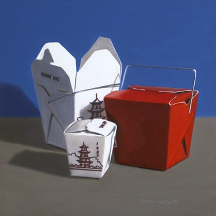 """Chinese Take Out"" original fine art by Nance Danforth"