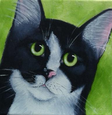 """Tuxcido Kat"" original fine art by Elaine Lynest"