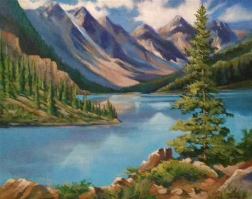 """Canadian Lake"" original fine art by Margie Whittington"