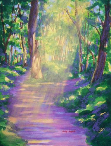 """Forest Light"" original fine art by Becky Chappell"