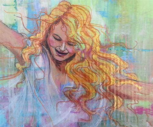 """""""Inner Goddess"""" original fine art by Becky Chappell"""