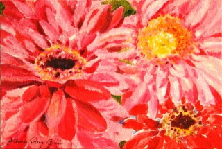 """Sea of Pink"" original fine art by JoAnne Perez Robinson"
