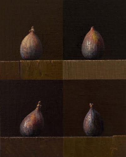 """Four Figs (larger painting)"" original fine art by Abbey Ryan"