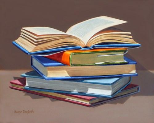 """Books II"" original fine art by Nance Danforth"
