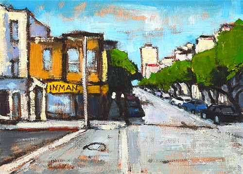 """Nob Hill, San Francisco"" original fine art by Kevin Inman"
