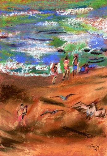 """Life Is A Beach"" original fine art by Donna Crosby"