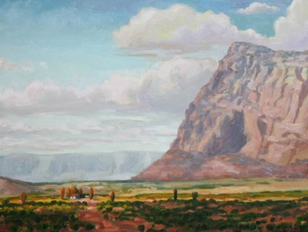 """At the Foot of Giants"" original fine art by K.R. McCain"