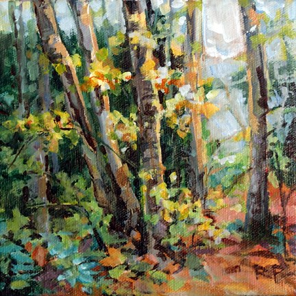 """Forest Sparkle"" original fine art by Robin Peterson"