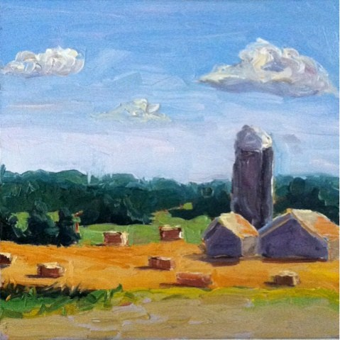 """View from my yard looking west"" original fine art by Kristen Dukat"