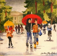 """Umbrella made for Two"" original fine art by JoAnne Perez Robinson"