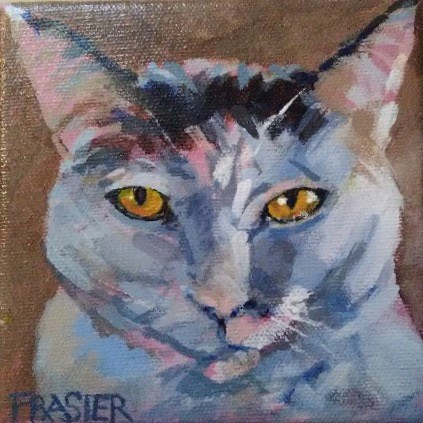 """Thunder"" original fine art by Patti Frasier"