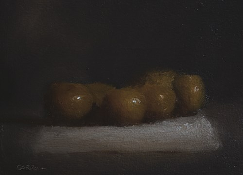 """""""Clementines on Cloth"""" original fine art by Neil Carroll"""