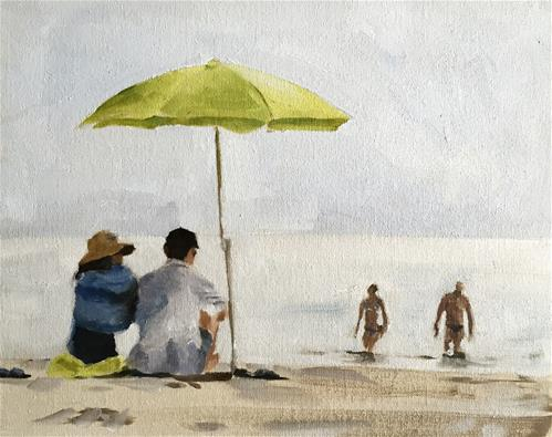 """On the Beach"" original fine art by James Coates"
