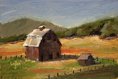 """Big Barn"" original fine art by Raymond Logan"