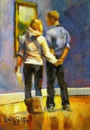 Enjoying Together original fine art by Linda K Smith