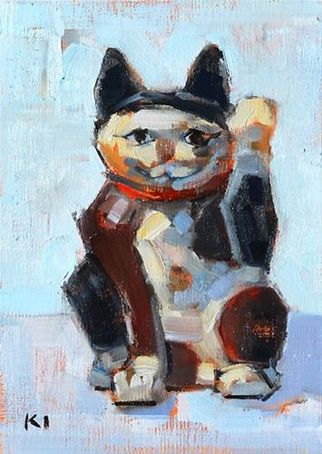 """Maneki Neko Painting"" original fine art by Kevin Inman"