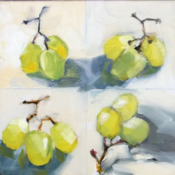 """Oil Sketches: Three Grapes"" original fine art by Deb Anderson"