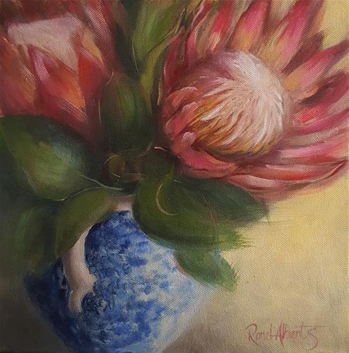 """THE BLUE VASE 2"" original fine art by Ronel Alberts"