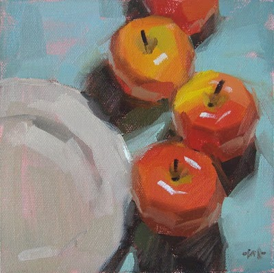 """Apple Train"" original fine art by Carol Marine"