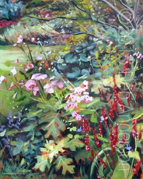 """Oil Painting: August Garden"" original fine art by Deb Anderson"