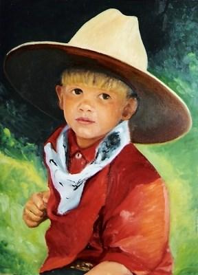 """Dad's Hat"" original fine art by Carole Chalmers"